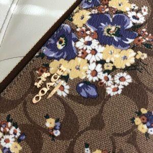 Coach Bags - Coach Accordion Zip Wallet Medley Bouquet Print